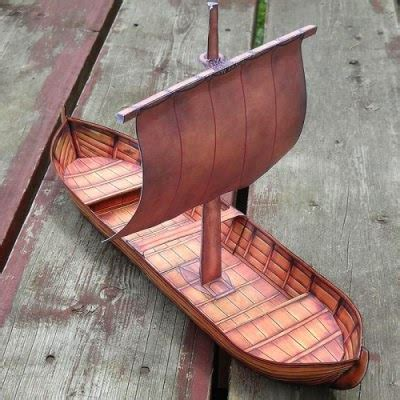 Viking Papercraft - this papercraft viking cargo ship was created by
