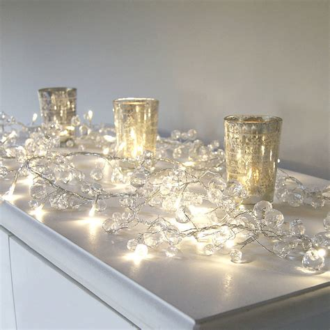 clear crystal led light garland clear crystal led light garland by red lilly