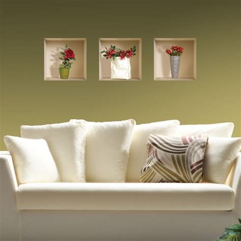 removable wall decals for living room new set 3 art wall sticker 3d decals removable mural home