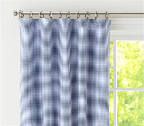 curtains pottery barn kids gingham blackout panel pottery barn kids