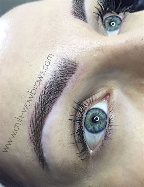 hair stroke eyebrow tattoo feather touch hair stroke microblading tattooed eyebrows