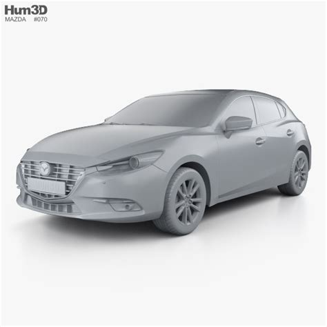 mazda 3 hatchback models mazda 3 hatchback 2017 3d model hum3d