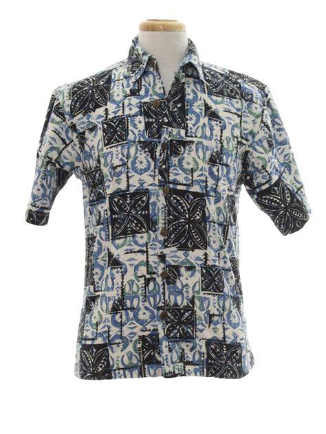 Wood Sleeve Brown Narrow 1970s kunahs hawaiian shirt 70s kunahs mens black and
