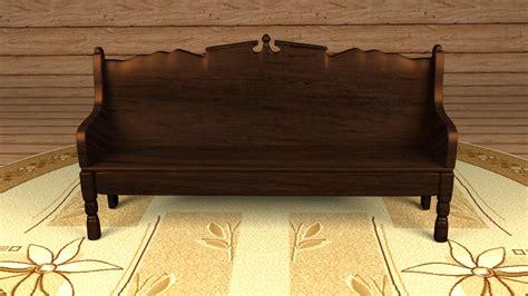 wooden sofa models wooden sofa 3d model