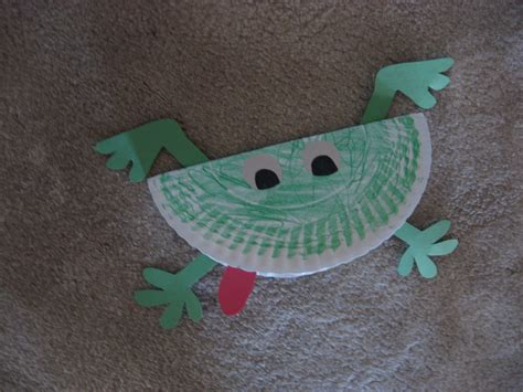frog craft paper plate paper plate frog kiddie crafts 365