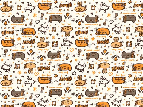 cute animal pattern background animal wallpaper pattern design of your house its good