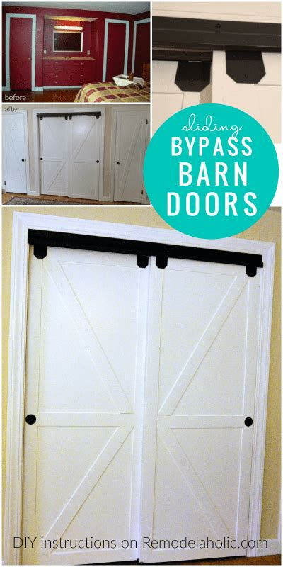 how to build a closet with sliding doors remodelaholic how to make bypass closet doors into sliding faux barn doors