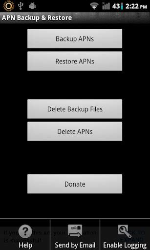 reset android gingerbread download apn backup restore for android and save apn
