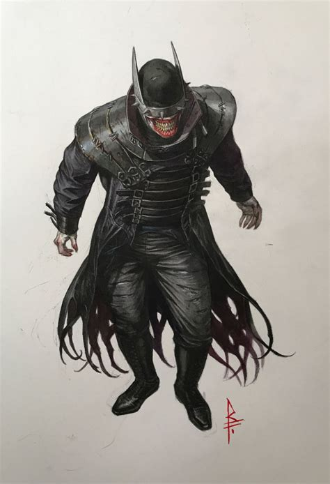 batman the who laughs dc s nightmare batman a batman joker hybrid is