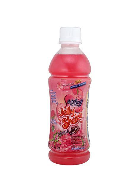 desain kemasan nata de coco jelly shake minuman nata de coco guava btl 340ml
