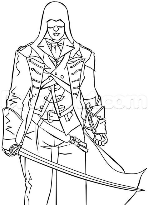 coloring pages for unity 146 best images about coloriage assassin s creed on