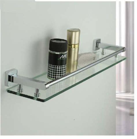 new modern square chrome brass bathroom shelf glass shower