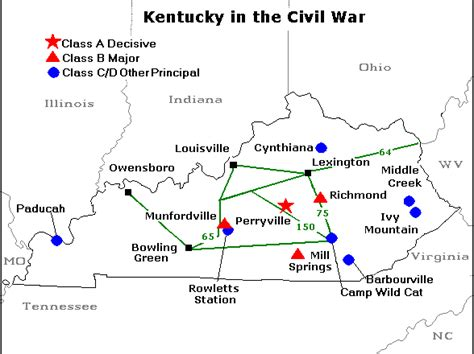 kentucky map civil war kentucky in the civil war