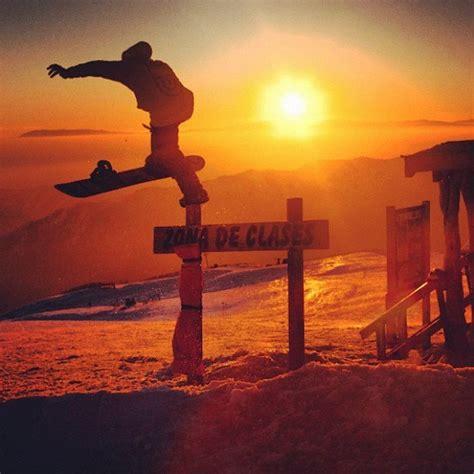 sunset snowboarding freeski snowboard pinterest