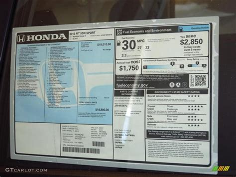 Honda Vin Lookup Window Sticker