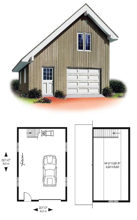 Saltbox Garage Plans | saltbox garage plan 65238