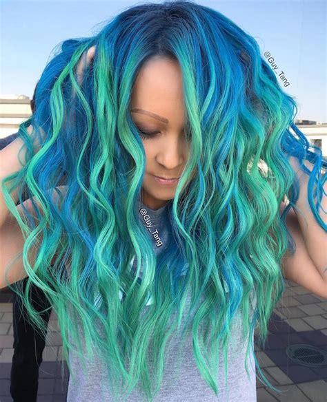 mermaid colored hair quot mermaid hair quot trend has dyeing hair into sea