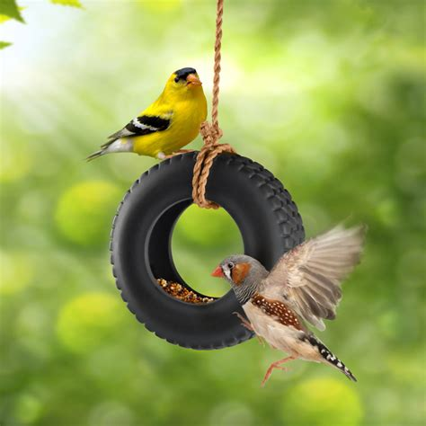 how to make a bird swing swingtime ceramic tire swing bird feeder the green head