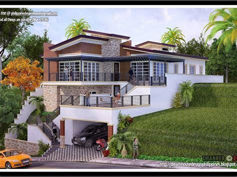 House Plans Sloping Lot Hillside by House Plan Hillside Sloping Lot