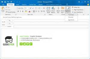 outlook signature template email signatures for outlook 2016