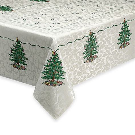 buy spode 174 christmas tree 70 inch round tablecloth from