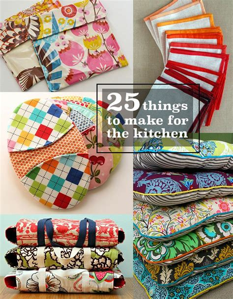fabric crafts kitchen 25 things to make and sew for the kitchen sewing