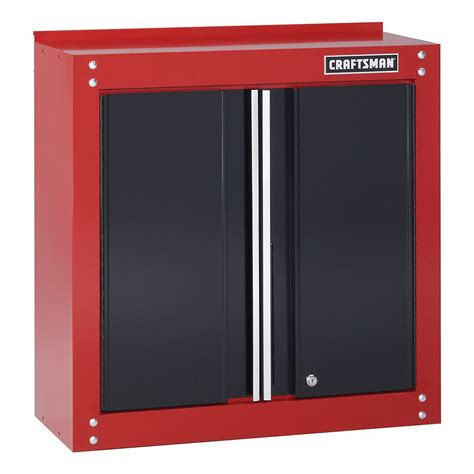 garage storage wall cabinets craftsman 28 quot wide wall cabinet red black shop your