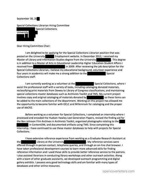 Open job application letter :: Open application letter you