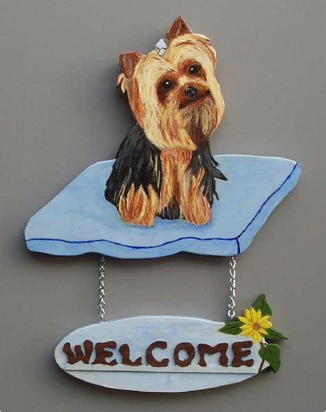 yorkie welcome sign brandydesigns yorkie welcome sign