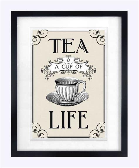 Poster Quotes Wall Bingkai Kayu Kitchen tea print poster vintage tea quote print kitchen wall the vintage tea and