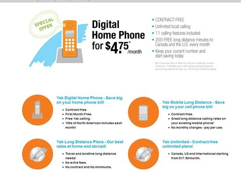 yak ca 10month home digital phone service and mobile