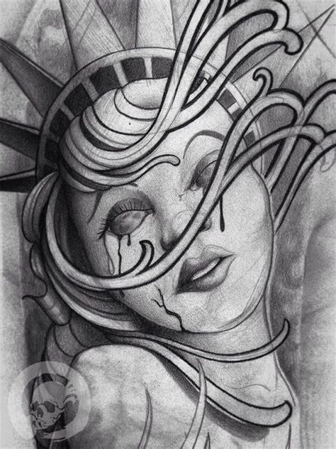 diamond eye tattoo aurora statue of liberty sketch statue of drawings and liberty