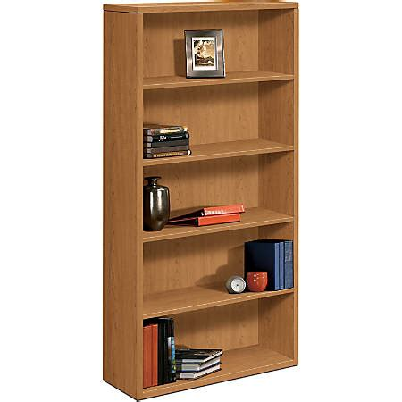 hon 10500 series bookcase hon 10500 series 5 shelf bookcase harvest cherry by office