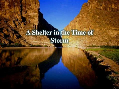 in the time of a shelter in the time of storm
