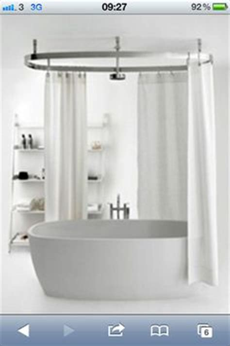 shower curtain freestanding bath 1000 images about bathroom ideas on