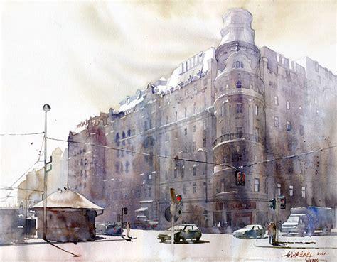 painting workshop buildings watercolors by grzegorz wr 243 bel livingdesign info