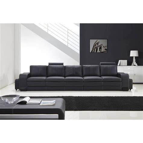 grand canapé 5 places grand canap 233 droit en cuir pleine fleur fabio 5 places