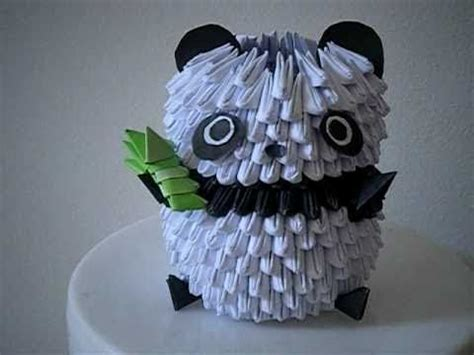 How To Make A 3d Origami Panda - 3d origami panda