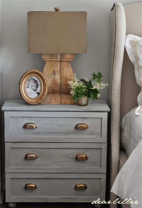 Dresser As Nightstand Gray Dresser With Brass Hardware As Nightstand Dear Lillie Decoration Loft