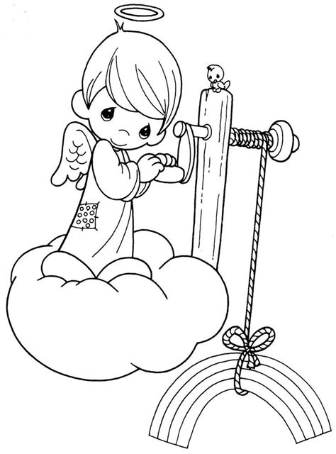 baby angel coloring page precious moments angels coloring pages para colorear de