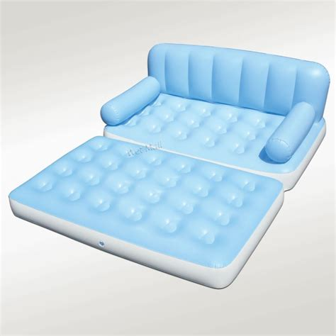 sleeper sofa with inflatable mattress multi max inflatable pull out sofa couch full double air