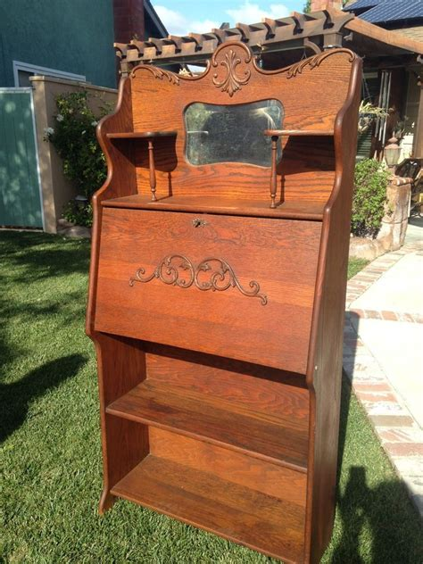 antique oak drop front secretary desk antique larkin tiger oak drop front secretary desk