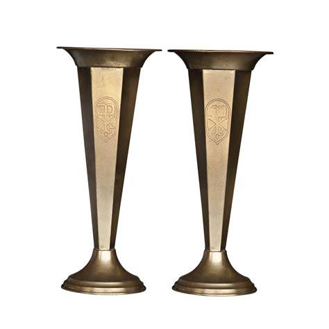 Antique Brass Vases by 1 Vintage Brass Vase Ebay