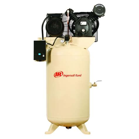 ingersoll rand compressor ingersoll rand type 30 reciprocating 80 gal 7 5 hp electric 230 volt single phase air