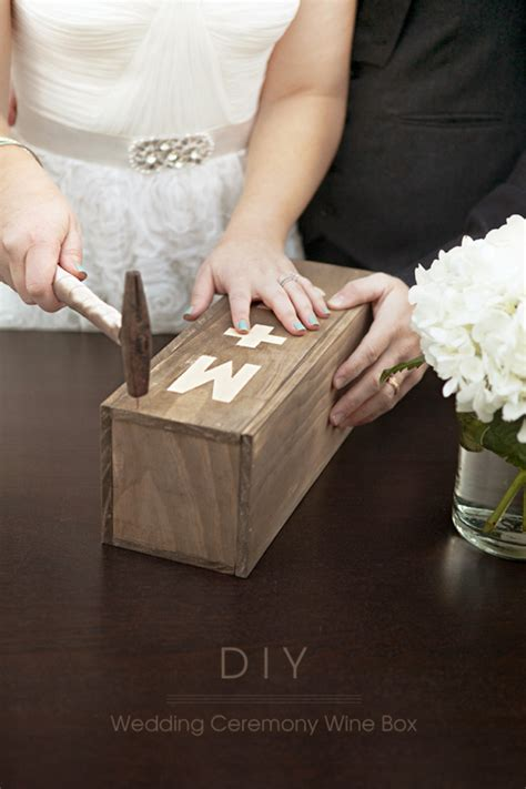 Wedding Ceremony Wine Box make your own wedding ceremony wine box