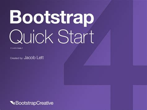 Bootstrap Quick Tutorial | bootstrap 4 tutorial pdf quick start