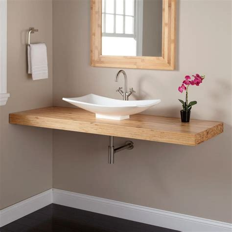 Pedestal Sink Decorating Ideas 1000 Ideas About Bamboo Bathroom On Pinterest Bamboo