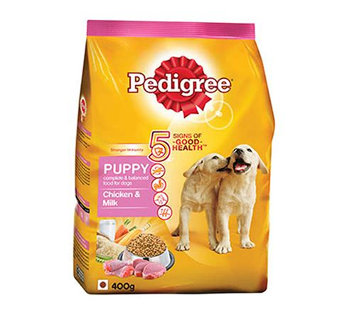 pedigree food pedigree chicken milk puppy food 400 gm dogspot pet supply store