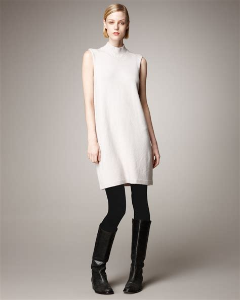 lyst rick owens sleeveless cashmere sweater dress  white