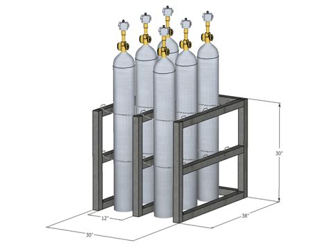 Cylinder Rack by Gas Cylinder Rack Barricade 6 Tanks 2x3 Br2x3fs Usasafety